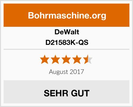 DeWalt D21583K-QS Test