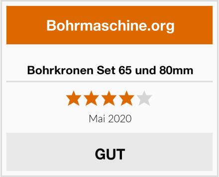 No Name Bohrkronen Set 65 und 80mm Test