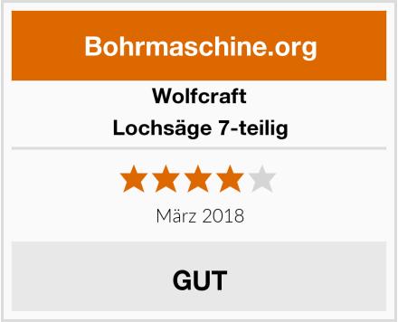 Wolfcraft  Lochsäge 7-teilig Test