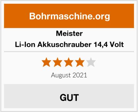 Meister Li-Ion Akkuschrauber 14,4 Volt Test