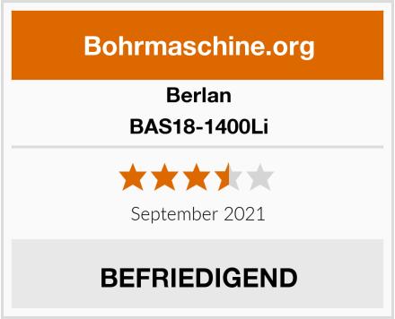 Berlan BAS18-1400Li Test