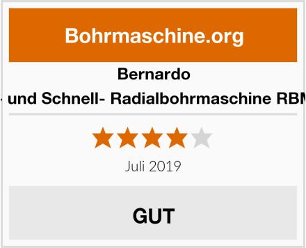 Bernardo Radial- und Schnell- Radialbohrmaschine RBM 780 T Test