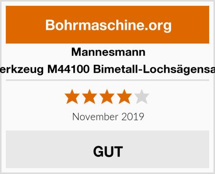 Mannesmann Werkzeug M44100 Bimetall-Lochsägensatz Test