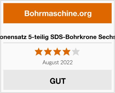 MK Bohrkronensatz 5-teilig SDS-Bohrkrone Sechskantschaft Test