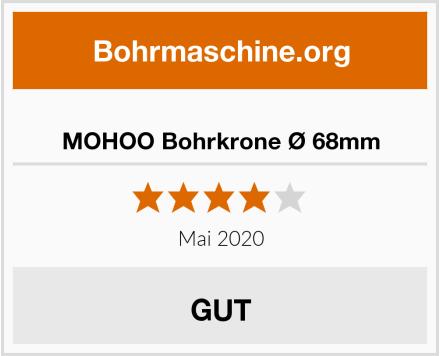 MOHOO Bohrkrone Ø 68mm Test