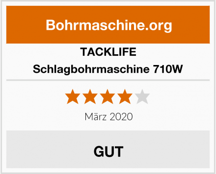 TACKLIFE Schlagbohrmaschine 710W Test