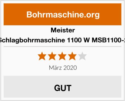 Meister Schlagbohrmaschine 1100 W MSB1100-2 Test