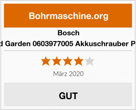 Bosch Home and Garden 0603977005 Akkuschrauber PSR Select Test