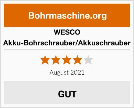 WESCO Akku-Bohrschrauber/Akkuschrauber Test