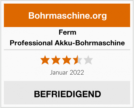 Ferm Professional Akku-Bohrmaschine Test